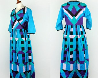 Gorgeous Southwestern Quilted Wrap Dress