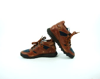 Old School New Balance Hiking Boots with Vibram Solem, Women's Size 8 1/2 B