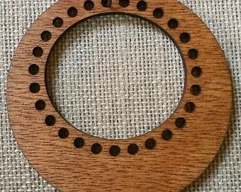 "Stitchable ""Olive"" Pendant Wood DIY *Rich Cherry/ Maple/ Red Chestnut Finish/Cherry/Walnut*"