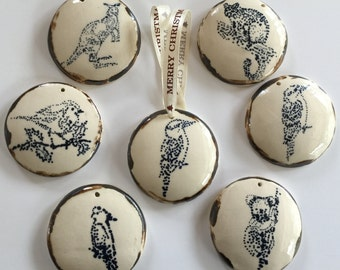 Christmas Ornaments with Australian animals. I am Porcelain who wants to be Enamel