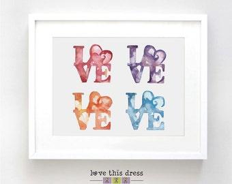 Love Watercolor - Fine Art Print