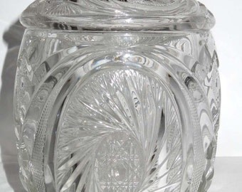 Crystal Cookie Jar Storage Container Home and Garden Kitchen and Dining Food Storage Cookie Jars