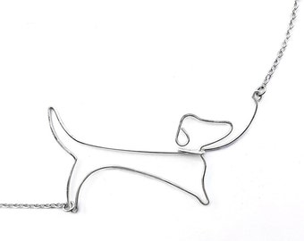 Dog Mom Necklace - Dachshund Necklace - Dachshund Jewelry, Dog Lover Gift