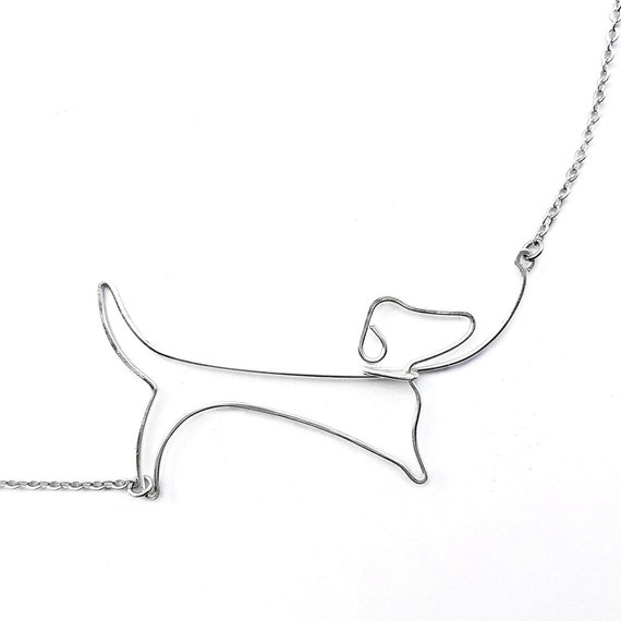 Dachshund Necklace - Dachshund Jewelry, Dog Lover Gift