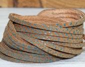 Wrap  Cuff Bracelet, Brown Snakeskin Print Genuine Leather , Multi-Strand Leather Bangle