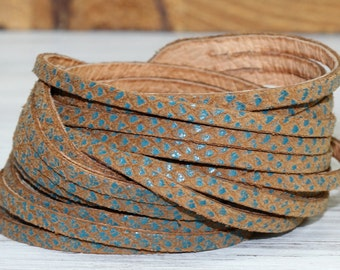 Wrap  Cuff Bracelet, Brown Snakeskin Print Genuine Leather , Multi-Strand Leather Bangle