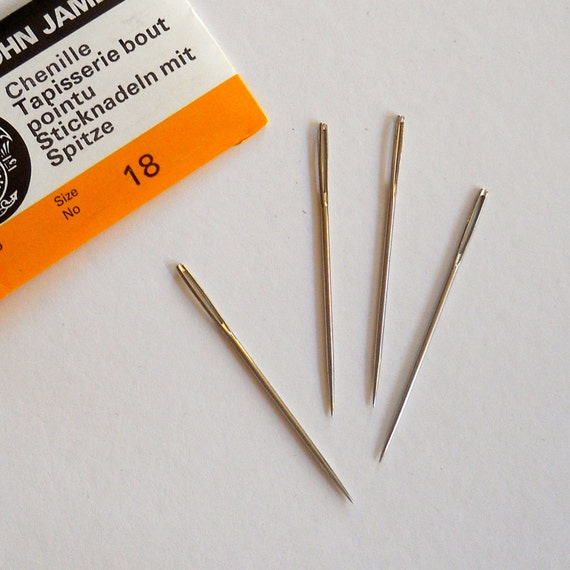 TOOL. Size 18 Chenille Embroidery Needles. A Great Embellishing Tool.