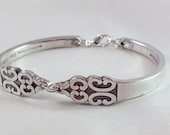 FREE ENGRAVING Silver Spoon Bracelet Vintage Jewelry Silver - TRIUMPH 1968 - Silverware Bracelet Spoon Bracelet Silver Spoon Bracelet