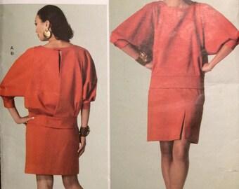 Vogue Paris Original Designer Pattern Guy Laroche  Loosely Fit Top & Ssemi-Fitted Skirt 2012 Uncut Size 14-22