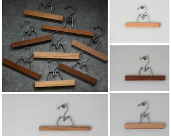 Vintage Clamp Hanger | ASSORTED - STYLES VARY | Wood Pant Hanger | Wall Hanging Display