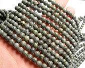 Grey Brecciated jasper - 6 mm round beads - full strand - 64 beads - A Quality - RFG1035
