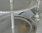 Cupcake Stand Wedding Cake Stand Large Cupcake Stand Dessert Table Serving Platter Wedding Reception Event Decor Vintage Wedding Decoration