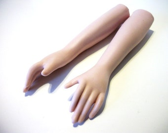 Bisque porcelain doll arms supply parts for making dolls