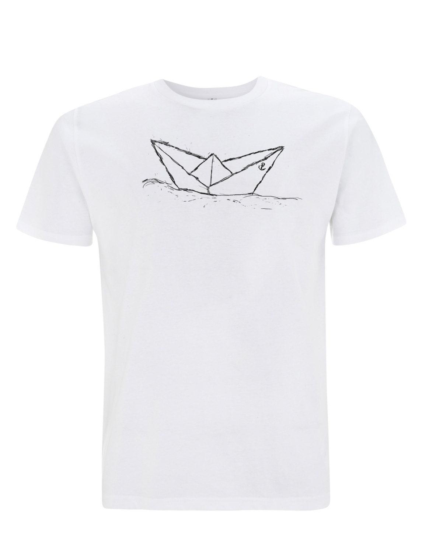 Paperboat T Shirt Fair Trade Organic Cotton White