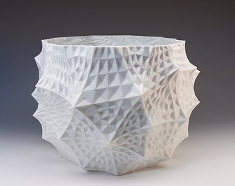 Geodesic Structure Cell Art Pots