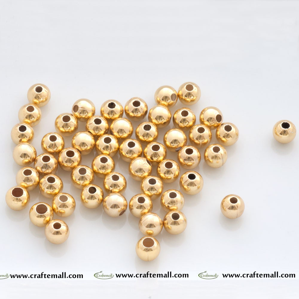 Gold Plated Silver Antique Beads: 10 Vermeil Spacer Beads 24k Gold Plated Over Sterling Silver