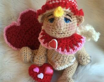 Cute Cupid Crochet Pattern Adorable Amigurumi Style Cupid by Teri Crews