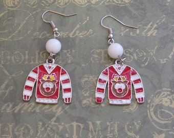 Ugly Sweater Reindeer Earrings