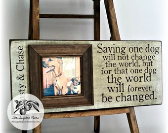 Rescue Dog Gifts, Rescue Cat Gifts, Rescued Dog Frame, Rescued Cat Frame, Pet Gifts, Pet Lover Frames, Dog Lover Frames, 8x20