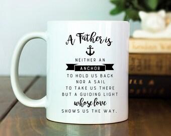 Father, Fathers Day, Fathers Day Mug, Dad Gift, Dad Gifts, Nautical Dad, Sailor Mug, Dad Mug, Dad Coffee Cup, Dad Birthday, Stepdad Mug