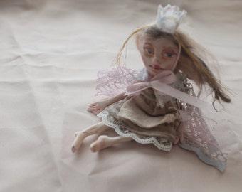 """OOAK Miniature Art Doll, Fairy Tale Doll Set, """"Little Mouse-Skin"""""""