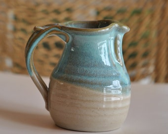 Pottery Creamer in Turquoise