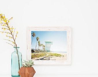 Beach Wall Art, Framed Beach Art, Beach Print, Santa Barbara California, Coastal Decor, Wooden Frame, White Frame, Beach Print Framed