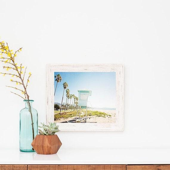 beach wall art framed beach art beach print santa