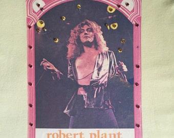Robert Plant Obsessed!  1976 Rhinestoned Rocker Sleeveless T Shirt Tank