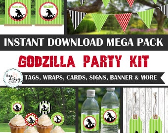 Godzilla Birthday, Godzilla Baby Shower, Godzilla Birthday Decorations, Godzilla Baby Shower Decorations, Godzilla Party Decorations