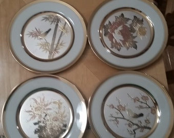 Vintage Chokin Japanese plates