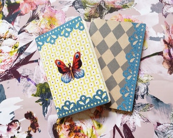 SALE-set of 2 Mini notebooks for all your dreams and great ideas - free shipping