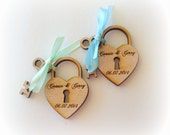 55 Heart and Key Wedding Favors Skeleton Key Love Lock