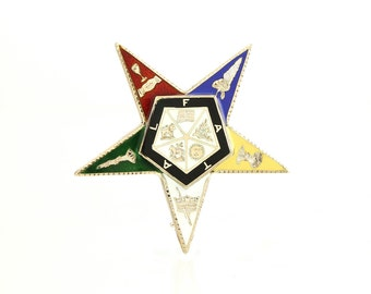 Eastern Star 14K Pin OES Brooch Lapel Pin -Vintage 1920