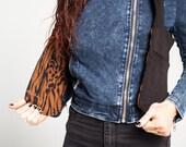 Brown Animal Print Holster Bag/Reversible Utility Vest/Festival Hand Free Bag