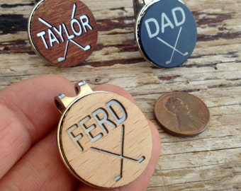 Personalized Golf Ball Marker, Father's Day Gift,Dad Golf Gift for Men, Men's Graduation Gift,Groomsmen Groomsman Gift,Birthday Gift for Dad