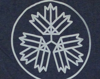 67 Leaves t-shirt - Heather Navy