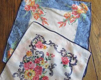 Blue Bordered Handkerchiefs