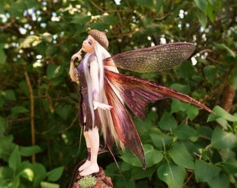 "OOAK Fairy Art Doll, Hand Sculpted Lifelike Faerie, The Silver Branch Faery,  ""Eridel"""