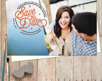 Wedding Save-the-Date Magnets - Modern Photo Save-the-Date Magnets - Photo Save the date Magnet, Save the date postcard, FREE ENVELOPES!