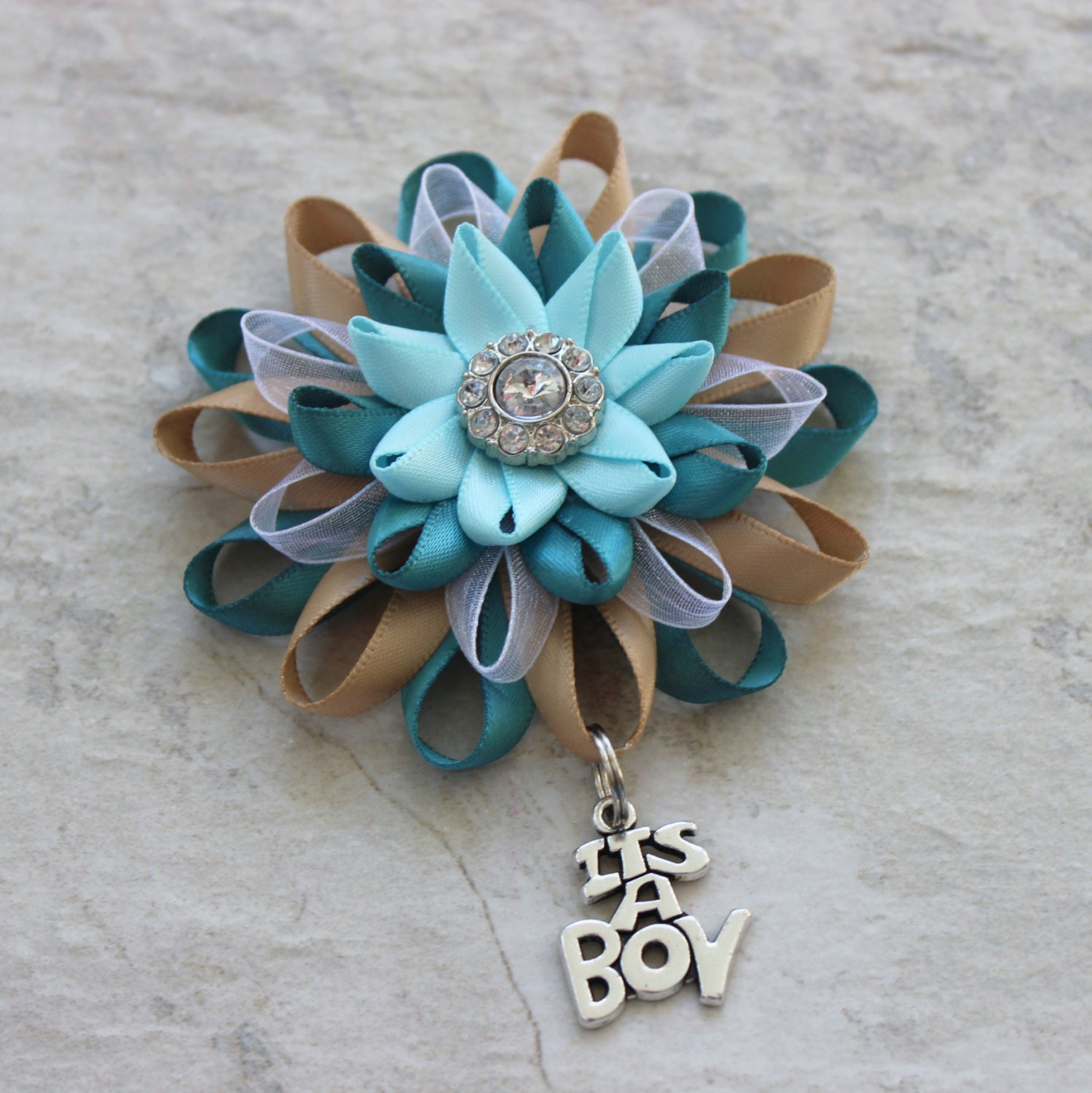 Turquoise Baby Shower Decorations Its A Boy Corsage Its A Boy Pin Baby Boy Shower Corsage Baby