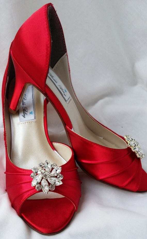 wedding shoes red wedding shoes bridal shoes rhinestone flower shoes 1130