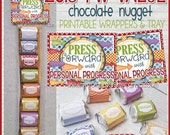 PRESS FORWARD with Personal Progress, 2016 YW Value Nugget Wrappers, Candy Gift Treat - Young Women lds - Printable Instant Download