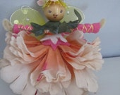 Pink Posey Flower Fairy Doll