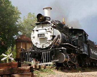 Train Print - Little Boys Room Wall Art - Railroad Decor - Travel Photography - Transportation Decor - Engine Photo - Tracks - Railway