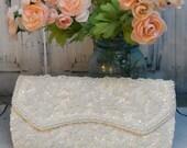 Stunning Vintage ~ La Regale ~ Glass Beaded Formal Evening bag /Wedding Clutch