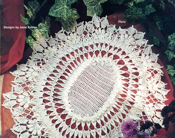 DOUBLE RUFFLE DOILIES Thread Crochet House of White Birches 101117