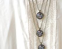 Inspirational Necklace Set - Believe, Trust, Grow - Positive Jewelry - Motivational Necklace