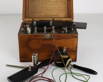 Vintage Medical Device -J. E. Ullery No. 5 & 7 Battery/PRICE REDUCED