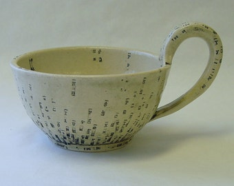 Typewriter Key Soup Mug